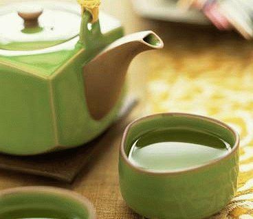 Зелйный чай полезен для печени